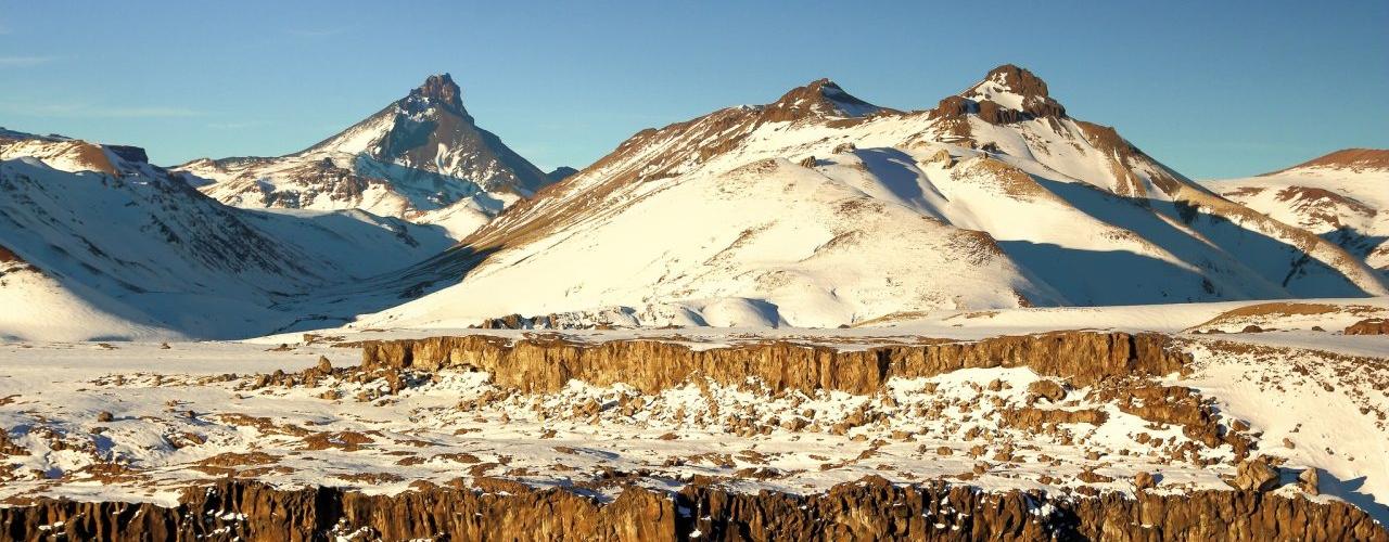 Montañas y sol en Malargüe